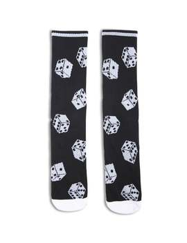 Men Dice Print Socks by Forever 21
