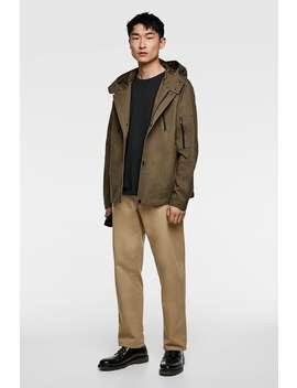 Hooded Zippered Parka  Parkas Outerwear Man by Zara
