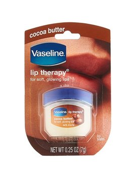 2 Pack Vaseline Cocoa Butter Lip Therapy For Soft, Glowing Lips, 0.25oz Each by Vaseline