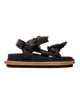 Black Bow Tie Sandals by Sacai