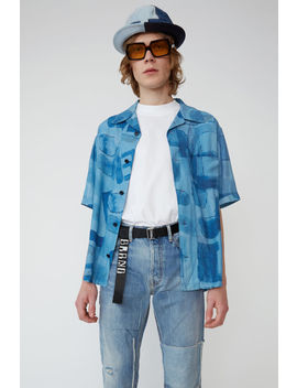 Printed Shirt Indigo Denim/Palace Blue by Acne Studios