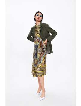 Printed Tunic With Pockets  View All Dresses Woman by Zara