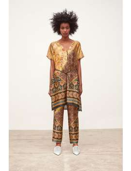 Printed Belted Tunic  View All Dresses Woman by Zara