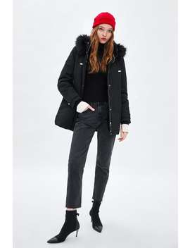 Water Resistant Padded Parka With Hood  Coats Coats Woman by Zara