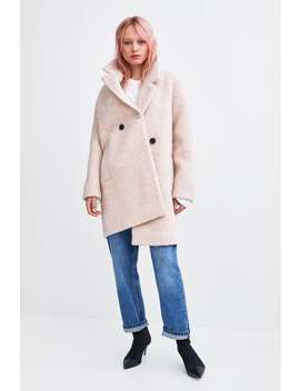 Double Breasted Buttoned Coat  Coats Coats Woman by Zara