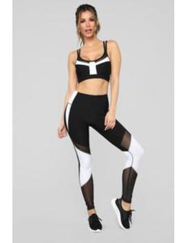 Willow Active Legging   Black/White by Fashion Nova
