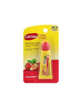 Carmex Daily Care Moisturizing Lip Balm, Strawberry, 0.35 Oz by Carmex