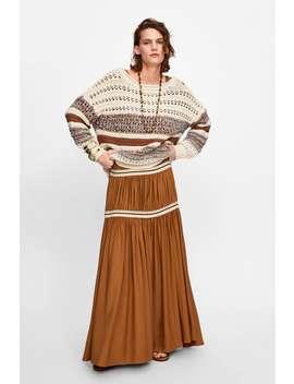 Sweater Oversize Combinada  Ver Tudo Malha Mulher by Zara