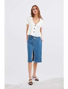 Button Top  Tops Shirts by Zara