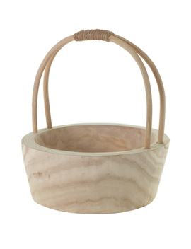 Mesa Wood Basket by Accent Decor