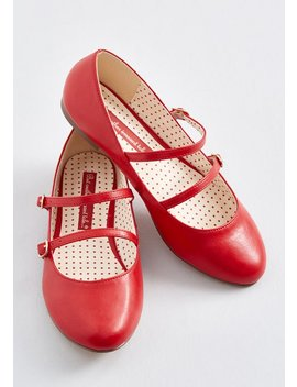 Twice The Treat Mary Jane Flat by B.A.I.T. Footwear