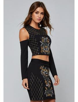 Bead &Amp; Sequin Top by Bebe