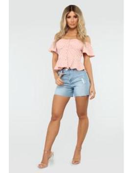 Say So Denim Shorts   Light Blue Wash by Fashion Nova