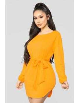 Cute And Cozy Mini Dress   Yellow by Fashion Nova