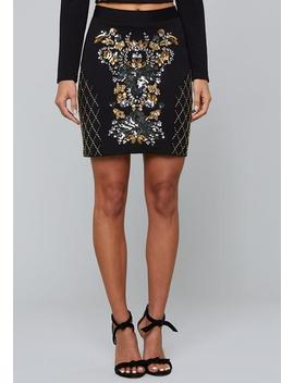 Bead &Amp; Sequin Miniskirt by Bebe