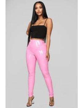 Brand Spanking New Vinyl Pants   Pink by Fashion Nova