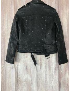New Allsaints Balfern Studded Leather Biker Jacket   Black   2 Us by All Saints