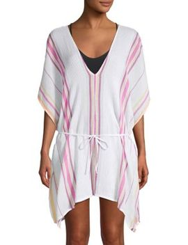 Printed Cotton Cover Up Tunic by Dolce Vita