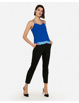 Double Layer Cross Back Cami by Express