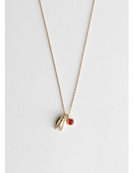 Leaf Charm Necklace by & Other Stories