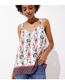 paisley-wide-strap-racerback-cami by loft