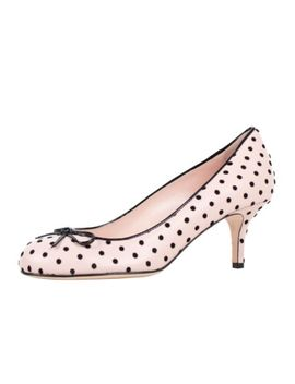 Nib Red Valentino Pink With Black Polka Dot Design Heels Shoes Size 7.5/37.5 by Red Valentino
