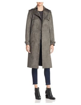 Faux Suede Trench Coat by T Tahari