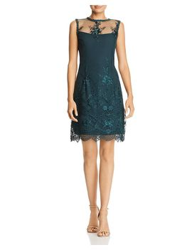 Sleeveless Illusion Embroidered Dress by Nanette Nanette Lepore