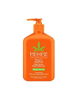 Hempz Yuzu & Starfruit Daily Herbal Moisturizer With Spf 30, 8.5 Ounce by Hempz