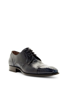 Valdes Genuine Lizard Cap Toe Derby by Mezlan