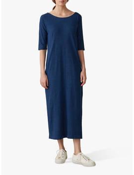 Toast Noelle Jersey Dress, Washed Indigo Blue by Toast
