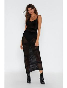Maxi Open Knit Strappy Dress by Nasty Gal