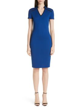 V Neck Milano Knit Dress by St. John Collection