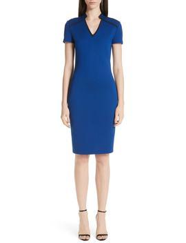 V Neck Milano Knit Dress by St. John Collection