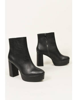 Chinese Laundry Natalie Black Platform Booties by Tobi