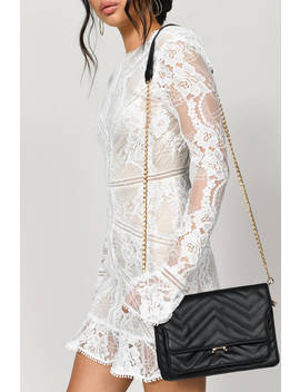 Wendy Black Leather Crossbody Bag by Tobi