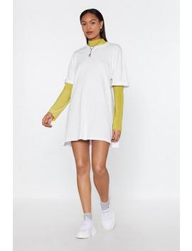 Spill The Tee Oversized Mini Dress by Nasty Gal