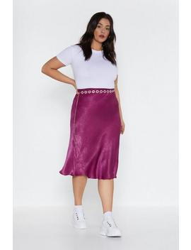 Slick All The Boxes Satin Midi Skirt by Nasty Gal