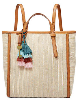 Camilla Straw Convertible Backpack by Fossil