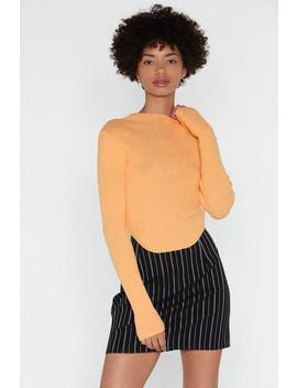 Forget About Knit Ribbed Mock Sweater by Nasty Gal
