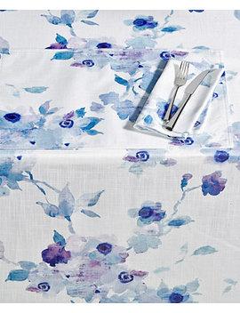 "Indigo Floral 60"" X 84"" Tablecloth by Lenox"
