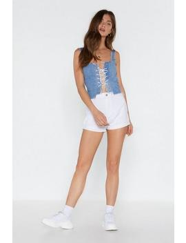 In The Fold Denim Shorts by Nasty Gal
