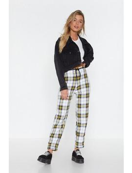 Stark Raving Plaid Relaxed Pants by Nasty Gal