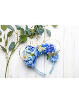 """<Span Data Preview Title="""""""">Cinderella Inspired Mouse Ears, Disney Ears, Princess Ears, Butterfly Ears, Flow...</Span>          <Span Data Full Title="""""""" Aria Hidden=""""True"""" Class=""""Display None"""">Cinderella Inspired Mouse Ears, Disney Ears, Princess Ears,... by Etsy"""