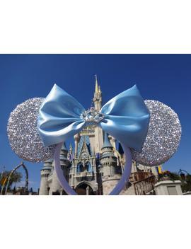 Cinderella Ears Minnie Mouse Ears Headband Bow   Cinderella Costume Cinderella Halloween Costume Princess Costume Disney Ears Mickey Ears by Etsy