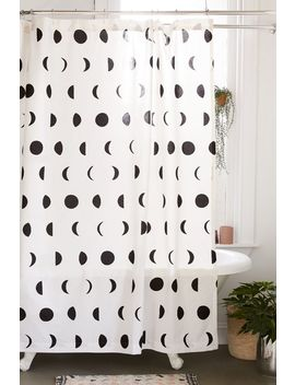 Moon Phase Block Print Shower Curtain by Urban Outfitters