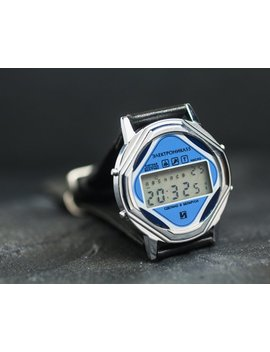 """<Span Data Inner Title="""""""">Round Case Lcd """"Elektronika"""" Watch.  Vintage Digital Watch Men's. Leather Watch Gift For Him</Span> by Etsy"""