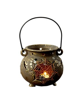 Dii Ceramic Lantern Spider Web Cauldron by Dii