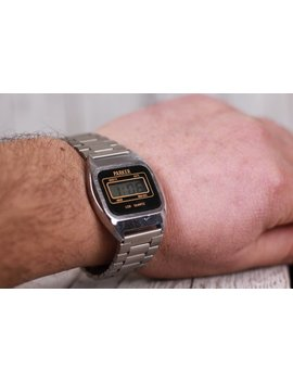 Vintage Lcd Quartz Watch, Dual Time Watch, Old Lcd Watch Parker, Chronograph Lcd Watch, Old Quartz Watch, Calendar Watch, 1980s Wristwatch by Etsy