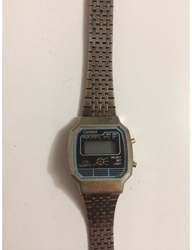 """<Span Data Inner Title="""""""">Vintage Stainless Steel Lcd Quartz Wristwatch From Carina</Span> by Etsy"""